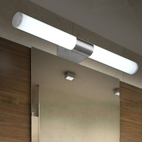 10W Brief Tube Stainless Steel LED Wall Light Bathroom White Light Mirror Lamp