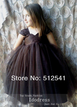 Fashion Girl Dresses 2014 A Line Sweetheart Sash Organza Ankle Length Cap Sleeves Flower gowns yk8R207