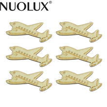 10pcs Unfinished Wood Plane Shaped Cutout Chips For Board Game Pieces Tags Arts Crafts Projects Ornaments Home Party Decoration(China)