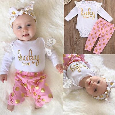 2017 Kleinkind Kleinkind Neugeborene Mädchen Strampler Hosen Overall - Babykleidung - Foto 3
