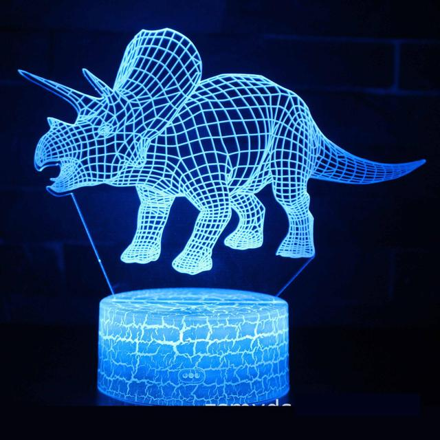 Dinosaur Tyrannosaurus Rex 3D Night Light Table 7 Colors Changing 3d Lamp Novelty Led NightLights Usb Led 3d Light Fixtures