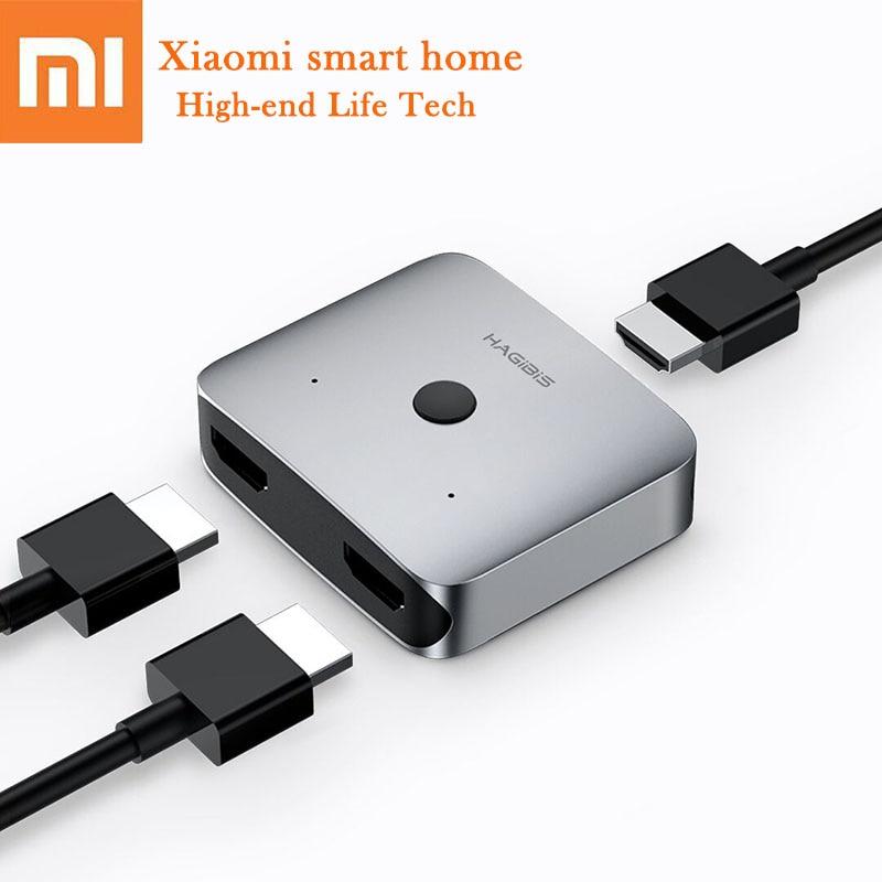 Eerlijkheid Xiaomi Hagibas Mini Hdmi Distributie Switcher Legering Hd 4 K Vision Dubbelzijdig Knop Switching Compatibel Hdmi Interface Apparaat Aangenaam Om Te Proeven