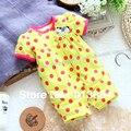 Envío libre Al Por Menor nuevo 2017 Verano ropa de bebé recién nacido bebé mameluco del bebé infantil general de manga Corta de punto animal mameluco