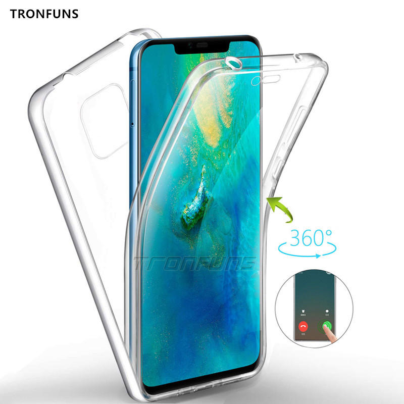 Double Silicon Full Body <font><b>Case</b></font> For <font><b>Huawei</b></font> P30 P20 Mate 20 Y9 Y7 <font><b>Y6</b></font> P Smart 2019 Y5 Prime <font><b>2018</b></font> Honor 7A 7C Pro 8X 10 Lite Cover image