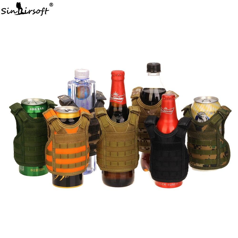 SINAIRSOFT Tactical Adjustable Shoulder Wine Bottle Cover Vest Protection Miniature Molle Carrier Sport Functional Bag Hunting цены онлайн