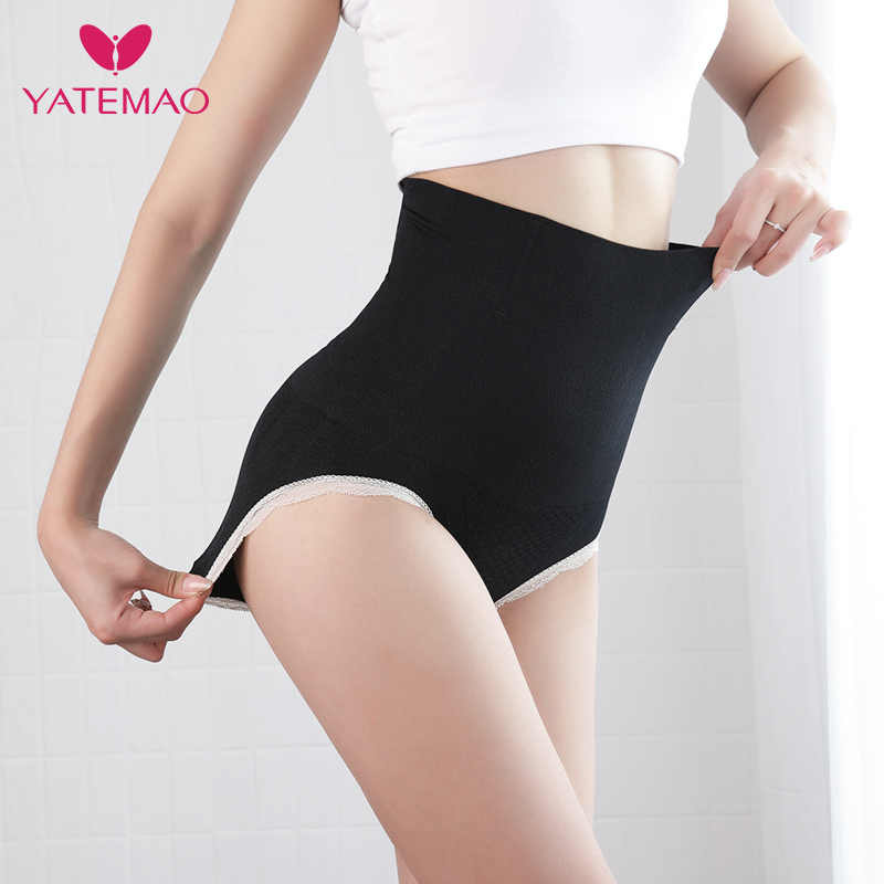 151866db418c2 ... YATEMAO Waist Body Shaper Women High Waist Tummy Control Panties  Seamless Belly Waist Slimming Pants Panties ...
