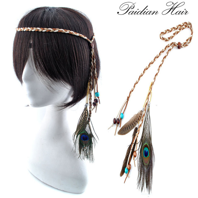 Women long fashion new bohemia true peacock and duck feather hair women long fashion new bohemia true peacock and duck feather hair extensions headband pmusecretfo Gallery