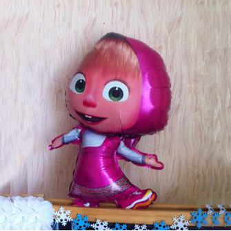 1PC x 36'' Foil Balloon Masha and the Bear Balloon Birthday Party Decoration Child Toys Gifts Celebration Cartoon Balloon