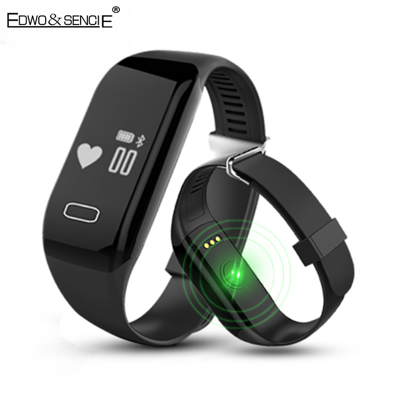 EDWO H3 Smartband Heart Rate Monitor Bluetooth 4 0 Wristband Call Reminder Fitness Tracker Smart Band