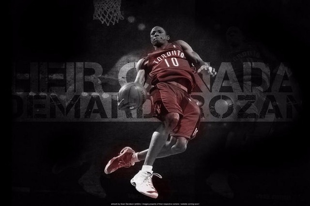 quality design 631f9 45d75 US $5.58 |13478 DeMar DeRozan NBA Toronto Raptor Basketball Player Wall  Sticker Art Poster For Home Decor Silk Canvas Painting-in Painting & ...