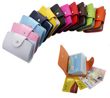 Hot PU Leather 24 Bits Card Case  Anti-Degaussing And Tear Proof Holder Credit Bag ID Passport Wallet Wholesale