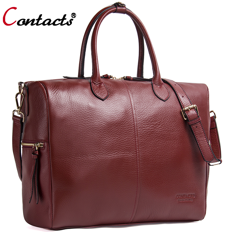 Contact's Genuine Leather Shoulder Bags Women Leather Handbag Women Messenger Bags Female Crossbody Bags For Women Tote Bag Big women handbag shoulder bag messenger bag casual colorful canvas crossbody bags for girl student waterproof nylon laptop tote