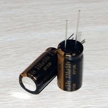 30PCS new Japanese original nichicon electrolytic capacitor audio KZ 330Uf/50V free shipping