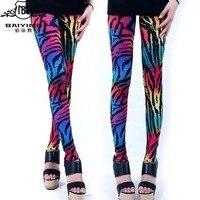 2016 New Fashion Color Zebra Leggings Animals Pattern Pantyhose Pants Wholesale Custom Pants LUCKY 772 One