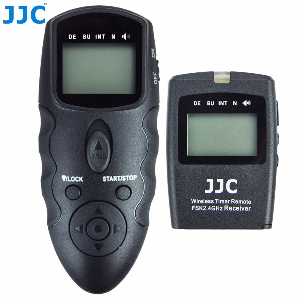 JJC DSLR Camera 2.4GHz 100M Transmission Distance Controller 56 Channels RF Wireless Timer Remote Control for Canon/Nikon/Sony tc n3 1 1 lcd camera timer remote controller for nikon d90 d5000