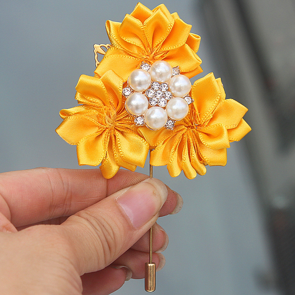6piecelot Yellow Flowers Corsage Upscale Guest Prom Accessories