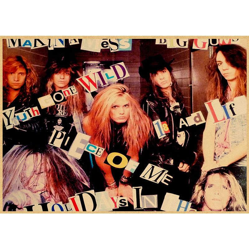 Skid Row/Rock Band/Kraft Kertas/Bar Poster/Wall Stiker/Retro Poster/Lukisan Dekoratif/