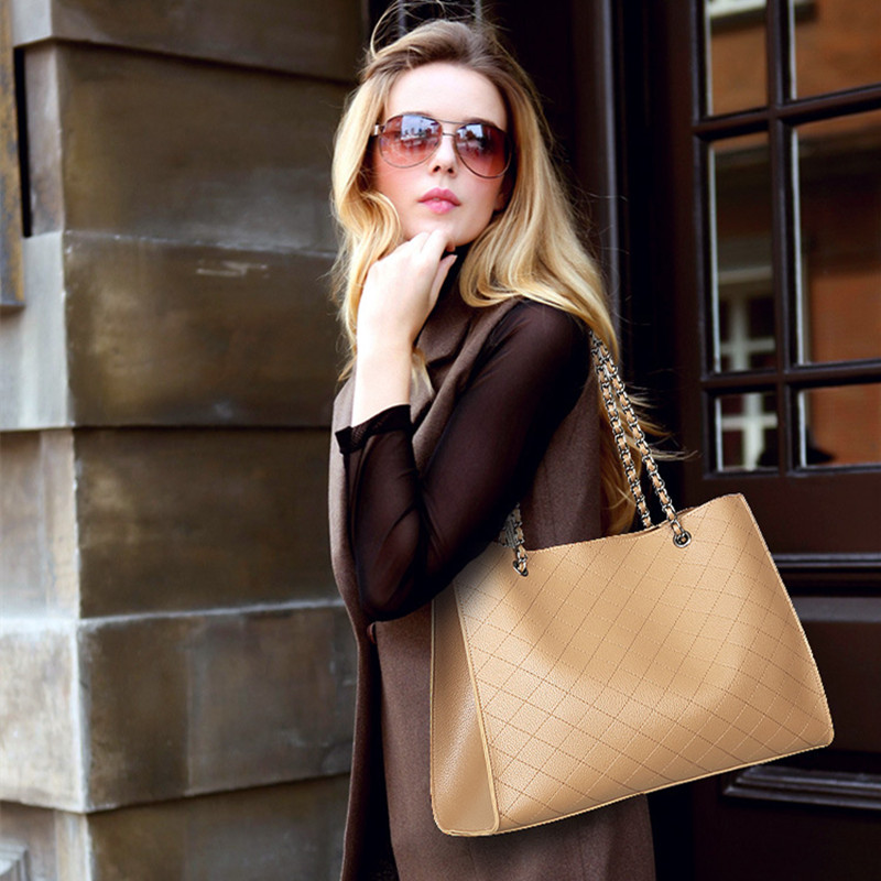Brand Design Women Shoulder Bag Large Capacity Chain Bucket Womens Handbags Quality PU Leather Totes Shopping Bag Bolsa Feminin