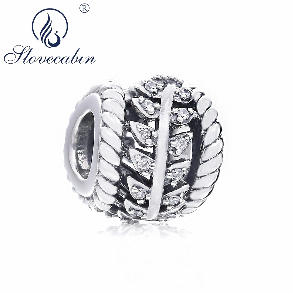 639e9b4d74f US $7.5 40% OFF|Slovecabin Dazzling Grain Swirl Charm Original 2018 Autumn  925 Sterling Silver Crystal CZ Icon Energy Beads For Jewelry Making-in ...