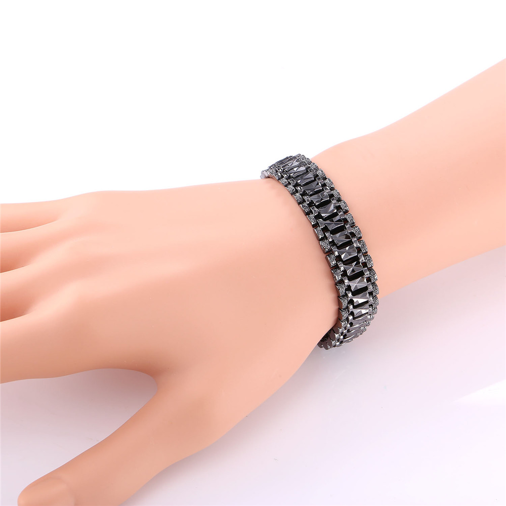 U7 Mens Bracelet Punk Rock Style Black/Silver/Gold Color Big Wide Chunky Chain Link Bracelets Meditation Men Jewelry Gift H550 6