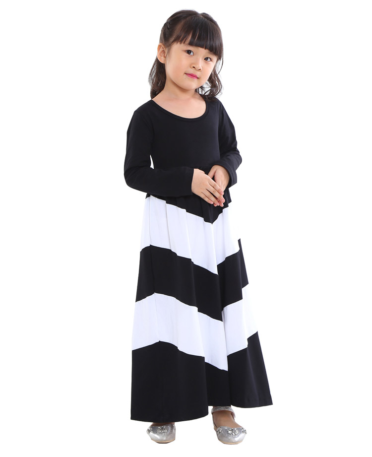 Baby Girls Full Chevron Dress 1t-10 Kids Beach Dresses for girls toddler girls clothing Children Bohemian Beach Maxi Long Dress long dress new fashion trend bohemian dress for girls beach tunic floral beach maxi dresses kids birthday party princess dresses