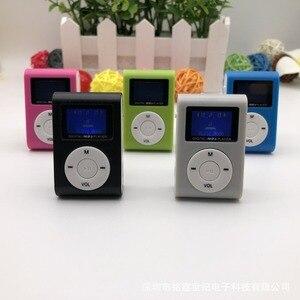 Hi-Fi USB Mini MP3 музыкальный плеер, ЖК-экран, поддержка 32 ГБ Micro SD TF карта, спортивная мода 2018, новый стиль, перезаряжаемый