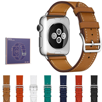 Leather Band For Apple Watch Loop Band 42mm 38mm Luxury Fashion Genuine Leather Bracelet Belt Strap
