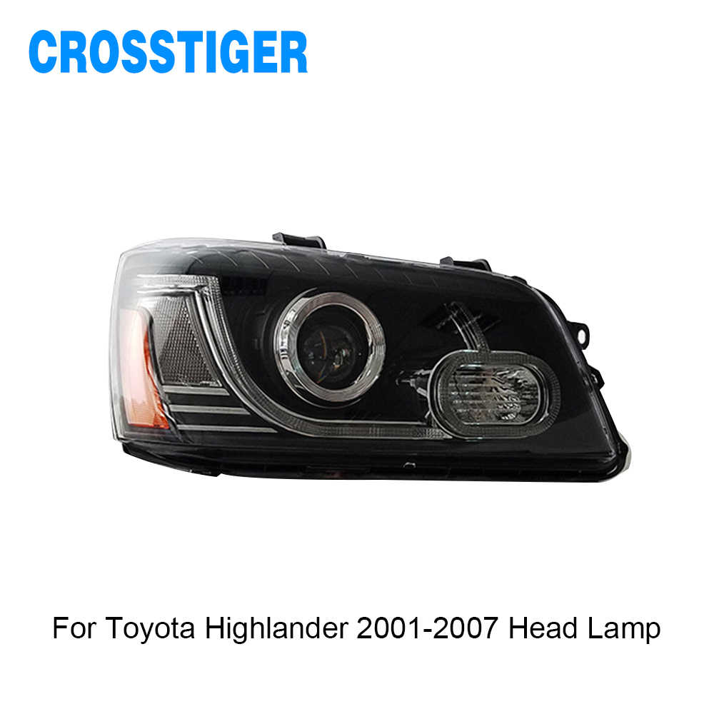 For Toyota Highlander 2001 2002 2003 2004 2005 2006 2007 Head Lamp LED DRL Headlight Assembly Lamp