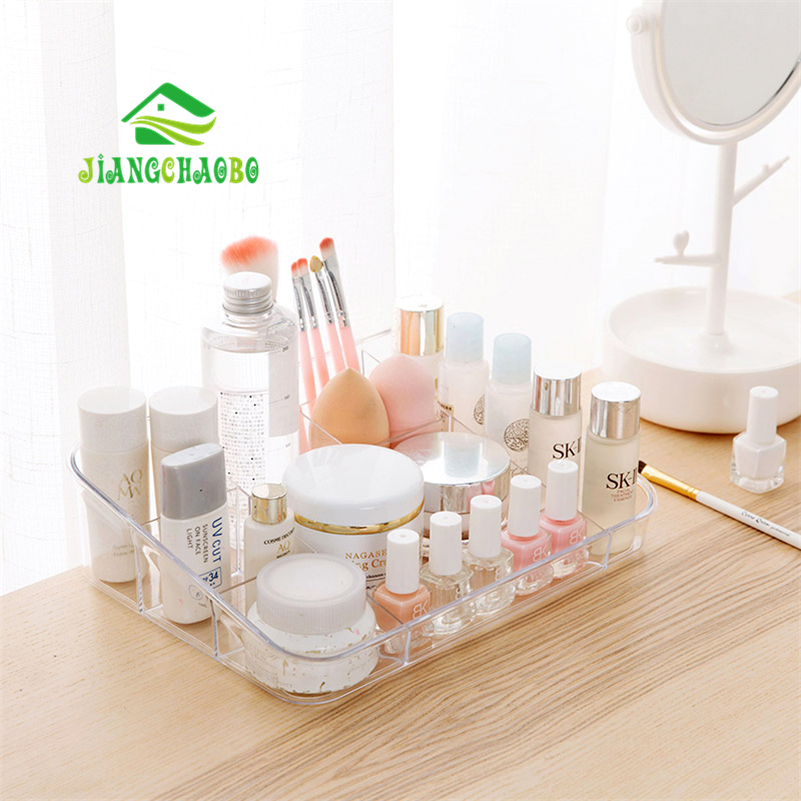JiangChaoBo Transparent Multi - Storage Box Dresser Cosmetics Storage Box Office Desktop Plastic Finishing Boxes