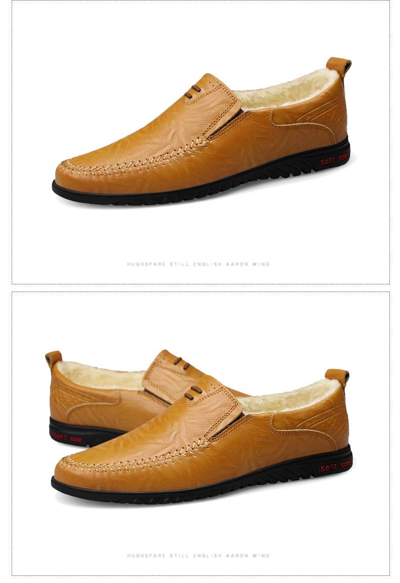 HTB10IotX2jsK1Rjy1Xaq6zispXaa DEKABR Men Shoes Genuine leather Comfortable Men Casual Shoes Footwear Chaussures Flats Men Slip On Lazy Shoes Zapatos Hombre