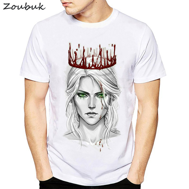 2018 The Witcher 3   T  -  Shirt   Men Short Sleeve O Neck Cool   T     Shirt   Game Clothing New Fashion Harajuku Streetwear Plus Size tshirt