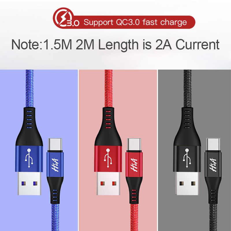 Быстрое зарядное устройство H & A 3A type C для huawei P20 lite usb type-C кабель для быстрой зарядки данных для huawei Mate 10 20 pro шнур зарядного устройства