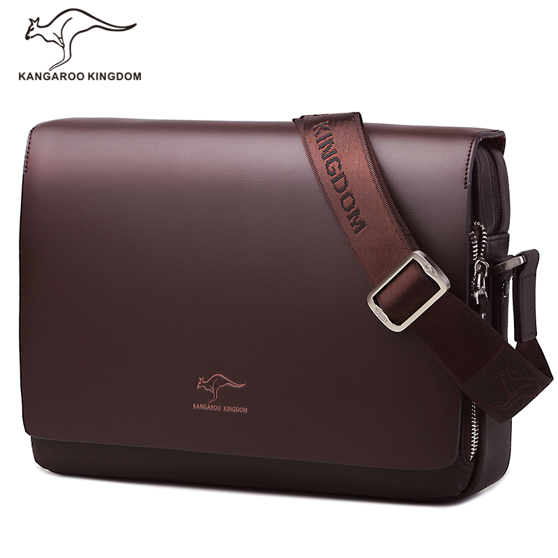 Kangaroo Kingdom Famous Brand Men Bag Leather Shoulder Bags Crossbody Mens Messenger Bags Satchel стоимость