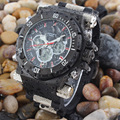 Men's classic watch dual display watch 50 waterproof Quartz-Watch relogio masculino Epozz 2813