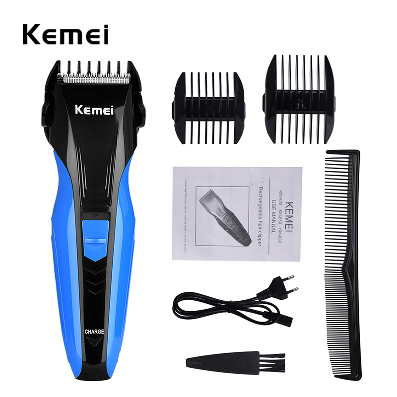 220-240V Kemei Professional Hair Clipper Electric Hair Trimmer Hair Shaving Machine Hair Cutting Beard Razor Electric Shaver 30 kemei 5 in 1 electric hair clipper men s electric trimmer professional hair cutting machine nose haircut shaver razor remover