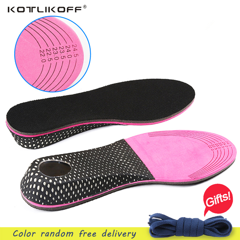 KOTLIKOFF Hot Sale Women Shoe Insole Free Size Cushion Heel insert Increase Taller Height Lift 3cm or 5cm 2016 2 pcs invisible shoe taller insole 6 color increasing height short helper half lift air 2 5cm cushion insert 6 colors