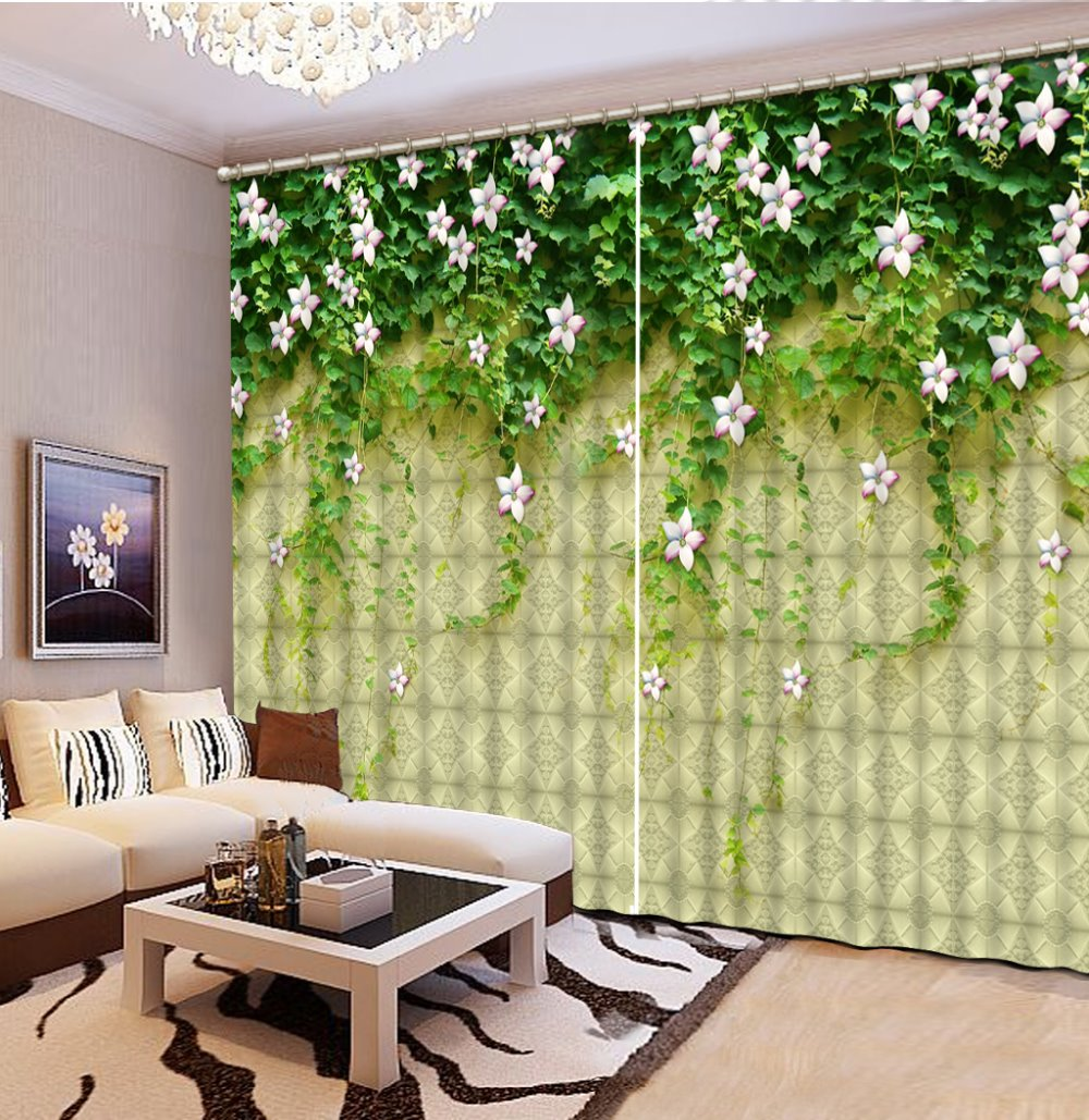 Personalizado 3D estereoscópico cortinas de lujo para sala de