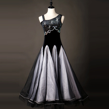 Standard Ballroom Dance Dress Performance Dancing Wear Women One Shoulder Tango Waltz Ballroom Competition Costume