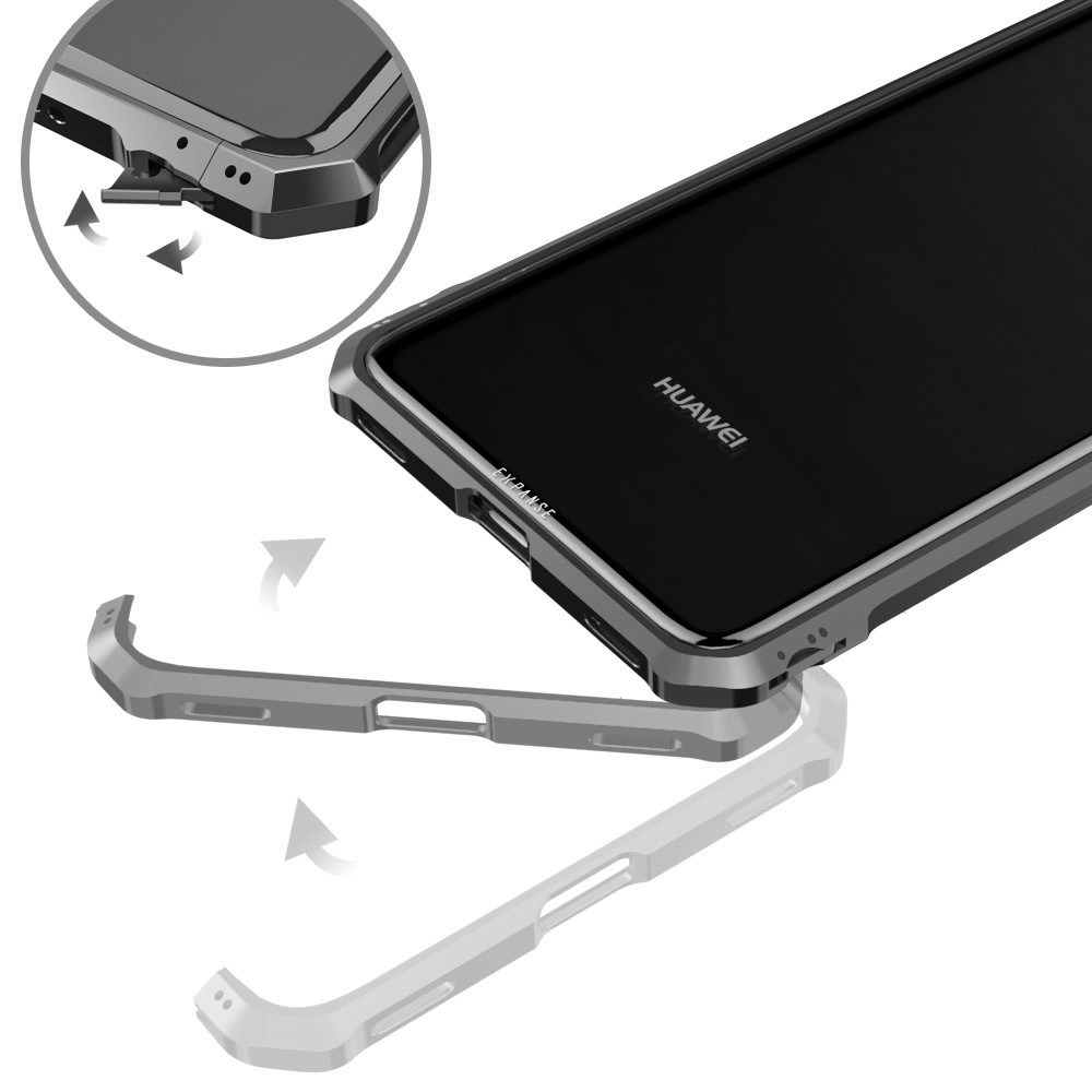 Luxury Aluminum Metal Bumper + Transparent Tempered Glass Back Cover Case For Huawei Mate 20 Lite / Mate 20 Pro Cases Frame