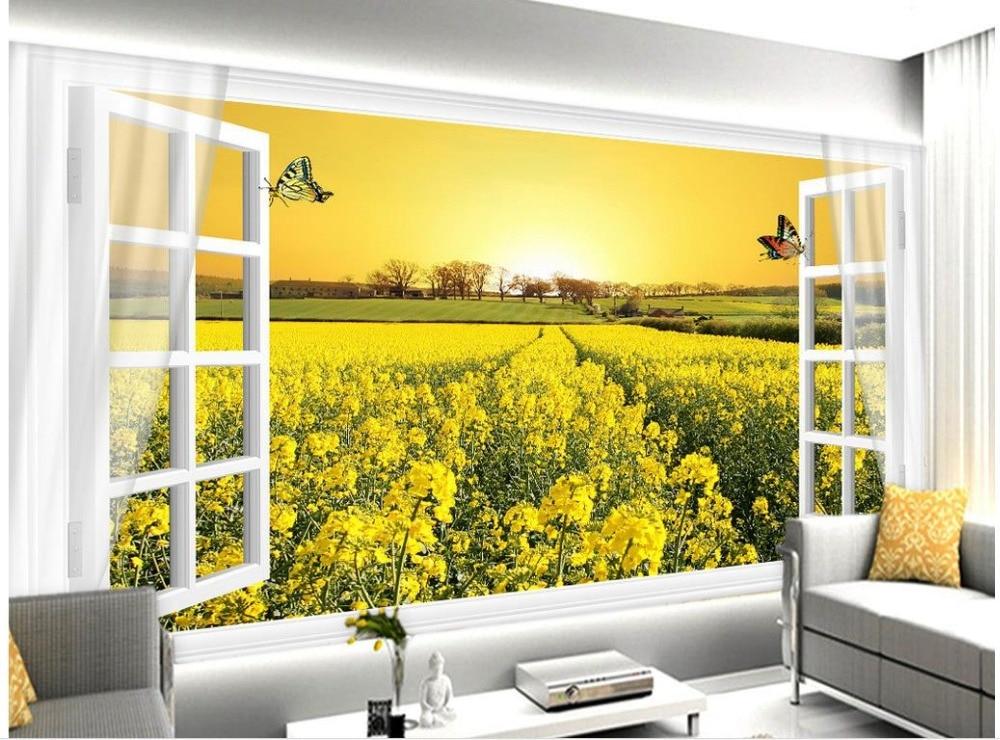a56144aa37b67 حمام المنزل الديكور 3d خلفيات الكانولا زهرة بيضاء البرية النافذة مشاهدة  جدارية اللوحة صور