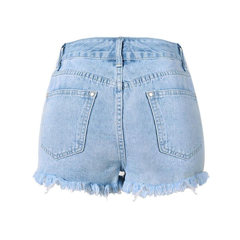 SUNSPA Broderie Denim Shorts Floraux Taille Haute Jeans Court Femme ... 489520aae81