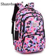 Shunvbasha модная одежда для девочек школьная сумка Водонепроницаемый свет Вес девушки рюкзак мешки печать рюкзак ребенка