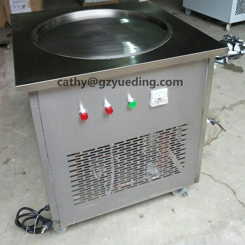 60cm big pan stainless steel fry ice cream machine roll ice cream machine ice cream roll machine