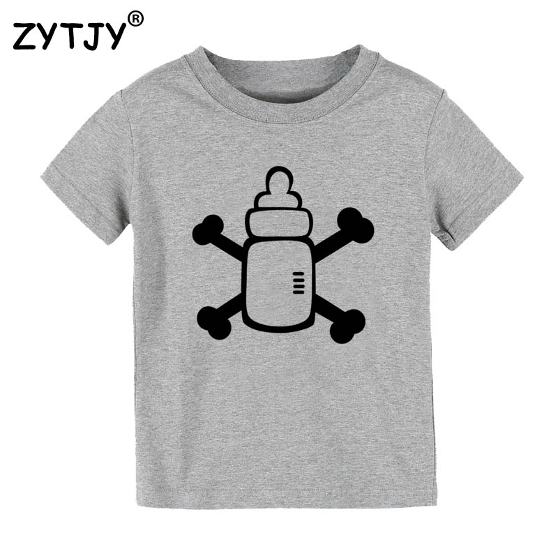 Milk pirate Print Kids tshirt Boy Girl t shirt For Children Toddler Clothes Funny Top Tees Drop Ship Y-35