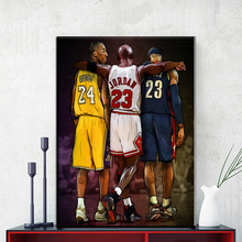 ZZ1106  Michael Jordan Kobe Bryant Lebron James Basketball Star Hot Art Print Poster Canvas Painting Home Room Decor prints art