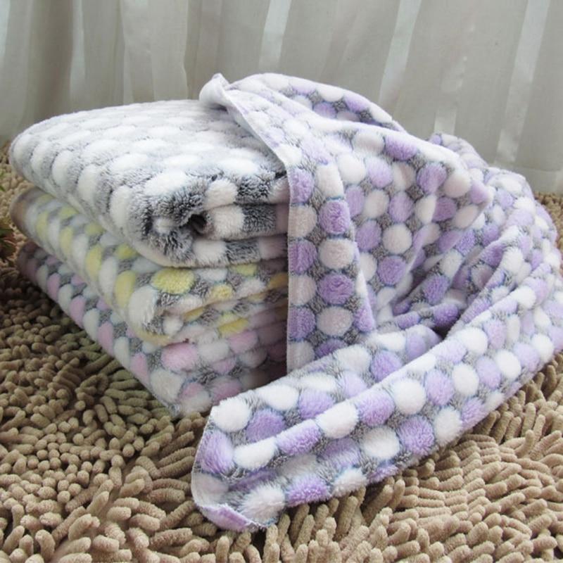 Meleg puha kisállat alvó szőnyeg kölyök takaró kutya kennel téli macska ágyas fleece pad kisállat termékek kis kutyáknak 40S2