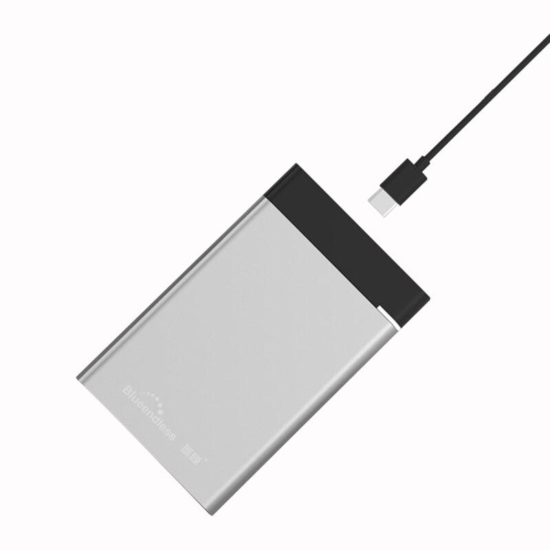 2,5 ''hdd Gehäuse Sata Externe Festplatte Fall Usb Micro B 3,0/typ C 3,1 Harte Disco Aluminium Abdeckung Fall Für 7mm/9,5mm Hdd Ssd Hell Und Durchscheinend Im Aussehen