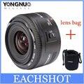 В Наличии! Yongnuo 35 мм объектив YN35mm F2 объектив широкоугольный Большой Апертурой Фиксированная Автофокуса Объектив Для canon EF Маунт EOS камеры