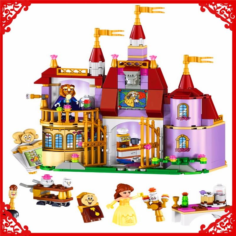 LELE 37001 Princess Belle's Enchanted Castle Building Block 379Pcs DIY Educational  Toys For Children Compatible Legoe decool 3114 city creator 3in1 vehicle transporter building block 264pcs diy educational toys for children compatible legoe