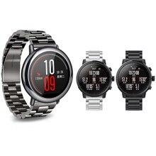 22mm Stainless Steel Watch Band untuk Xiaomi Huami Amazfit Penggantian Logam Tali untuk 20mm Xiaomi Huami Bip Bit Belang Wristband
